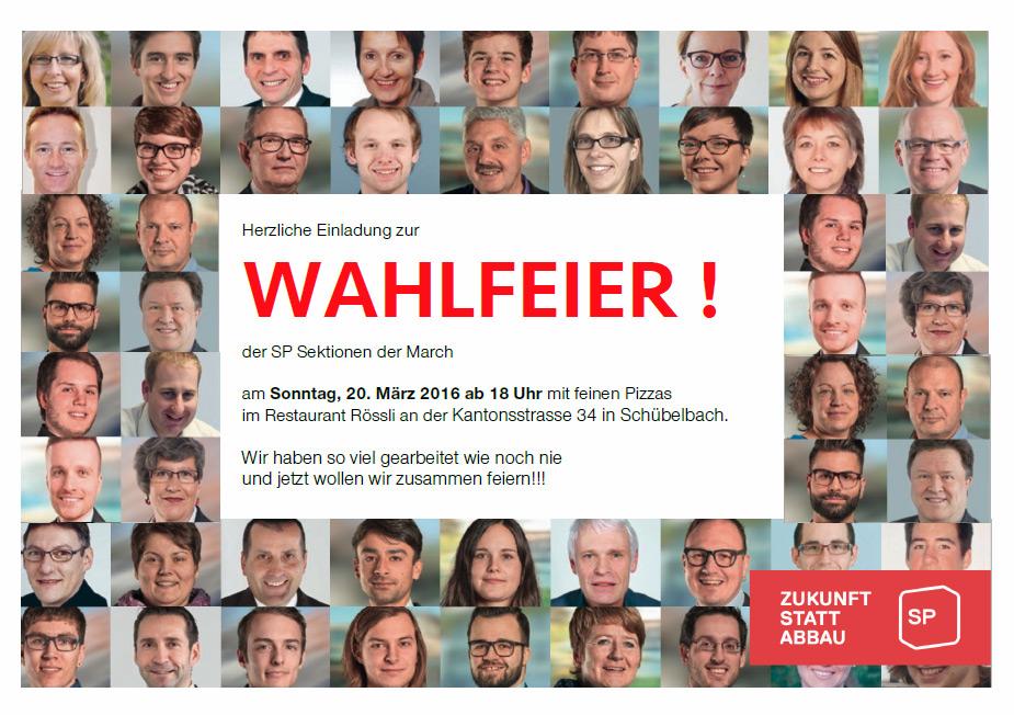 Wahlfeier zur Kantonsratswahl 2016