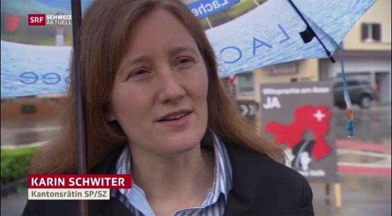 """Karin Schwiter nimmt in der SRF Sendung """"Schweiz aktuell"""" vom 24.5.2016 Stellung zur Axen Initiative."""